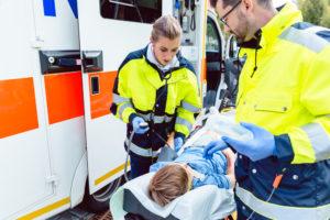 ranni w wypadkach